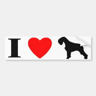 I Love Schnauzers Bumper Sticker