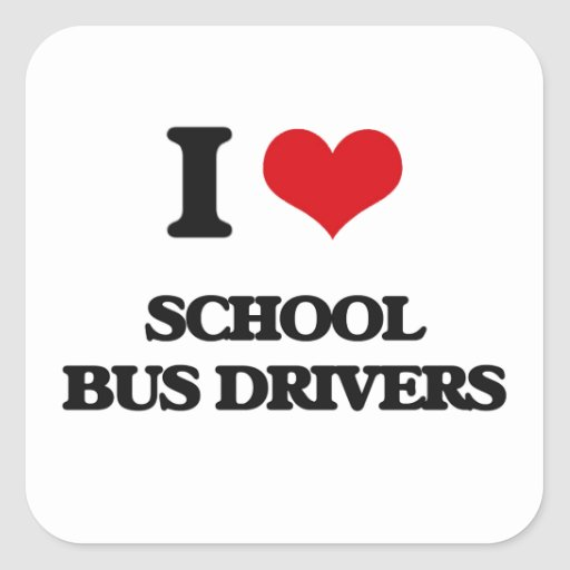 I love School Bus Drivers Sticker