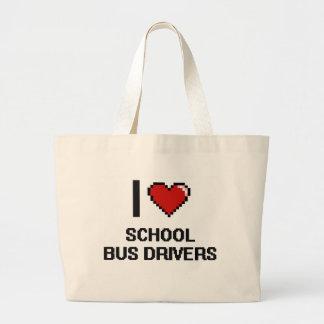 I love School Bus Drivers Jumbo Tote Bag