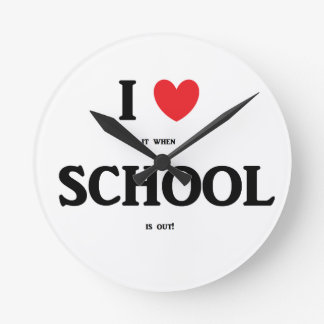 """I Love School"" Clock"