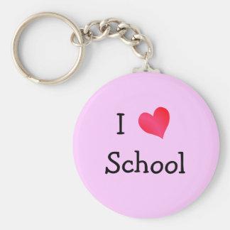 I Love School Key Ring