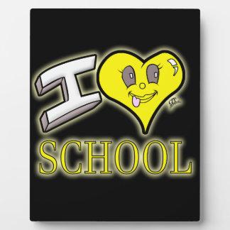 i love school yellow school bus edition photo plaques