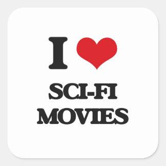 I love Sci-Fi Movies Square Sticker