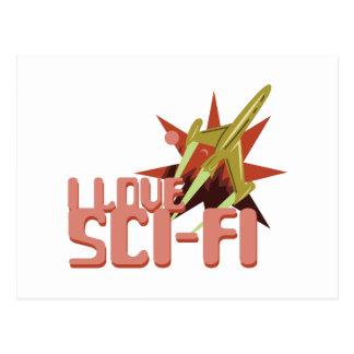 I Love Sci-Fi Postcard