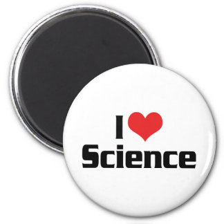 I Love Science 6 Cm Round Magnet