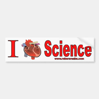 I Love Science Bumper Sticker