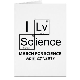 I Love Science Card