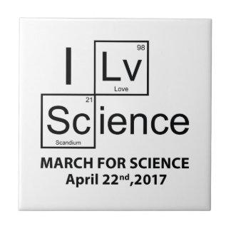 I Love Science Ceramic Tile