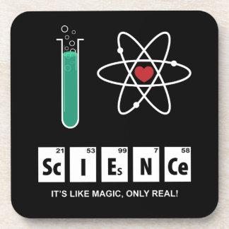 I Love Science - Cork Coaster
