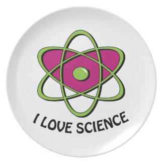 I Love Science Dinner Plate