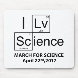 I Love Science Mouse Pad