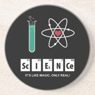 I Love Science - Sandstone Coaster