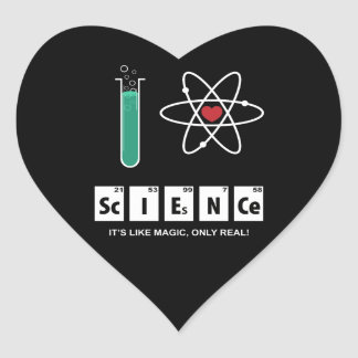 I Love Science - Sticker