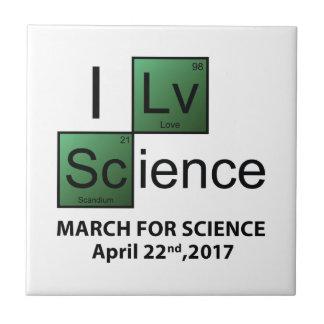I Love Science Tile