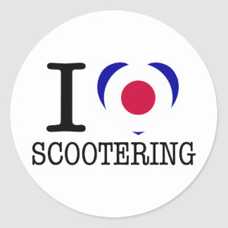 I Love Scootering Sticker