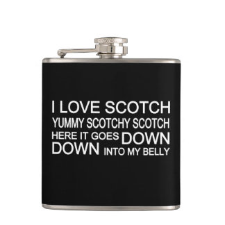 I Love Scotch Father's Day Flask