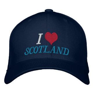 I Love Scotland Embroidered Baseball Cap