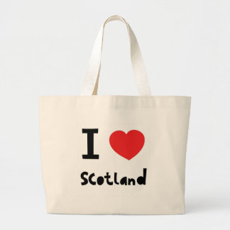 I love Scotland Jumbo Tote Bag