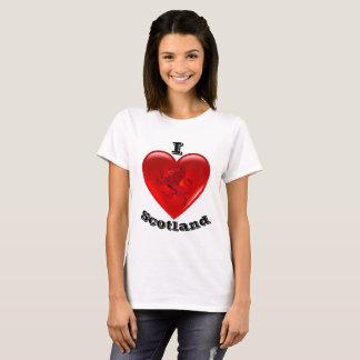 I Love Scotland, Rampant lion, Red heart of love T-Shirt