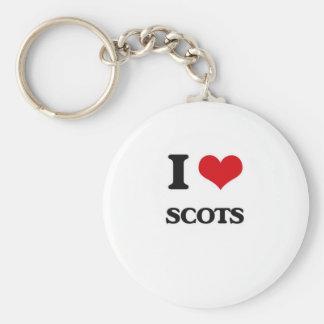 I Love Scots Key Ring