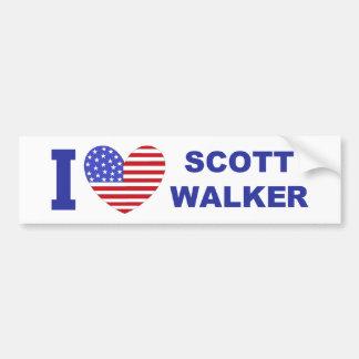 I Love Scott Walker Bumper Stickers