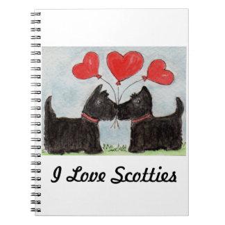 I LOVE SCOTTIES NOTEBOOK Scottie Dogs birthday