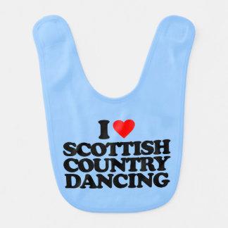 I LOVE SCOTTISH COUNTRY DANCING BABY BIBS