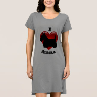 I Love Scottish Terriers, Big red heart of love Dress