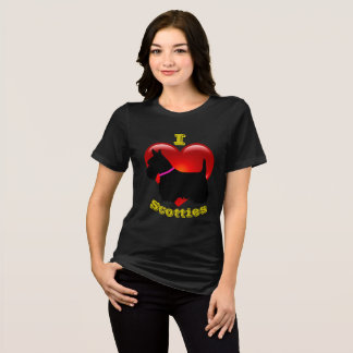 I Love Scottish Terriers, Big red heart of love T-Shirt
