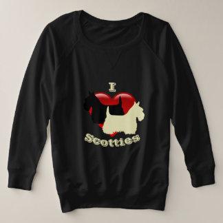 I Love Scottish Terriers, Black & wheaten Plus Size Sweatshirt