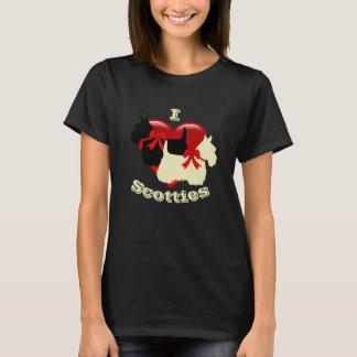 I Love Scottish Terriers, Black & wheaten T-Shirt