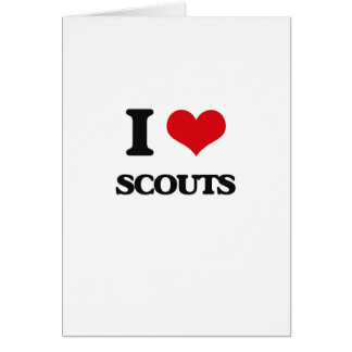 I love Scouts Greeting Card