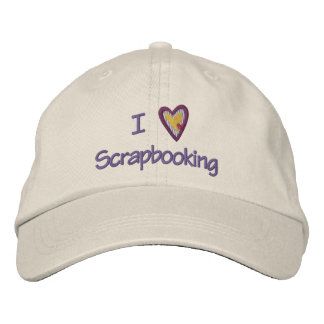 I Love Scrapbooking Embroidered Hats