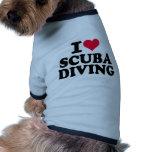 I love Scuba diving Pet Tshirt