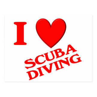 I Love Scuba Diving Post Card