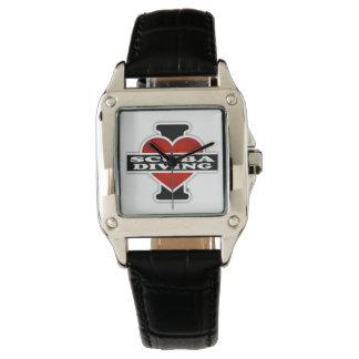 I Love Scuba Diving Wrist Watch