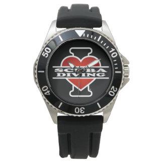 I Love Scuba Diving Wrist Watches
