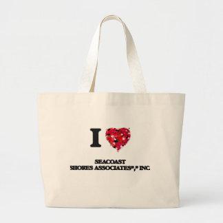 "I love Seacoast Shores Associates"","" Inc. Massachu Jumbo Tote Bag"