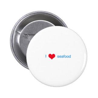 I Love Seafood Logo Pins