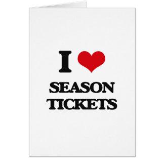 I Love Season Tickets Greeting Card