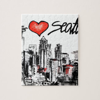 I love Seattle Jigsaw Puzzle