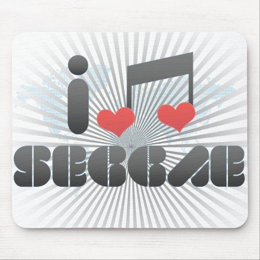 I Love Seggae Mouse Pad