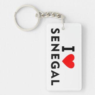 I love Senegal country like heart travel tourism Key Ring