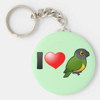 I Love Senegal Parrots Key Ring