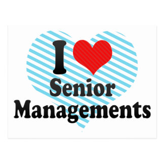 I Love Senior Managements Postcard