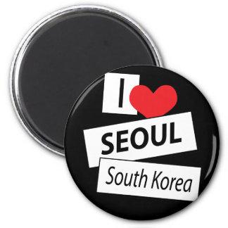 I Love Seoul South Korea Refrigerator Magnets