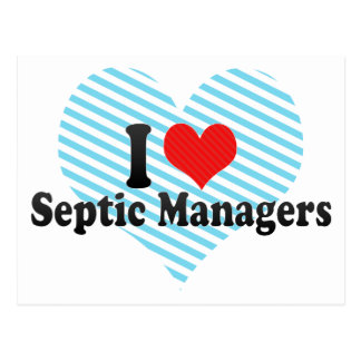 I Love Septic Managers Postcards