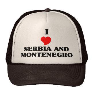 I Love Serbia and Montenegro Trucker Hats