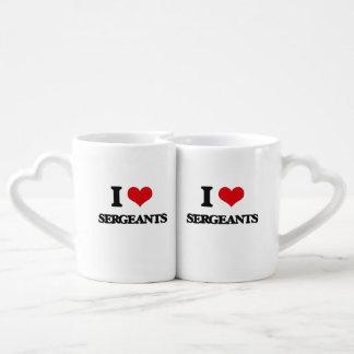I love Sergeants Lovers Mug Sets