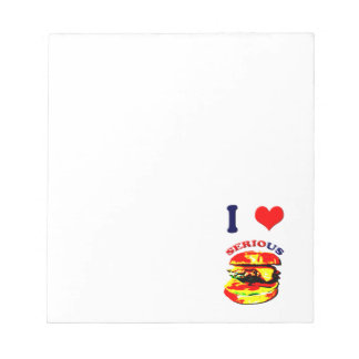I Love Serious Burgers Notepad
